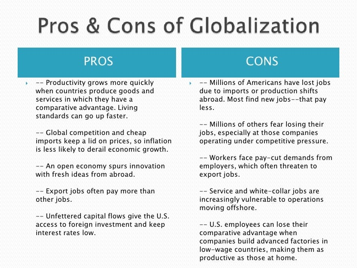 Example of technological globalization in developing country