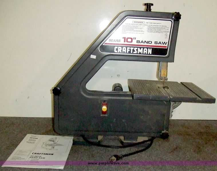 manual for sears 10 bandsaw model 113.283270c