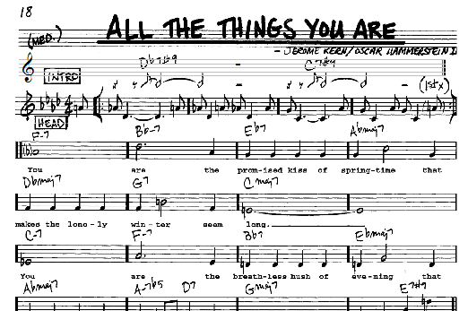 You are my all in all lead sheet pdf