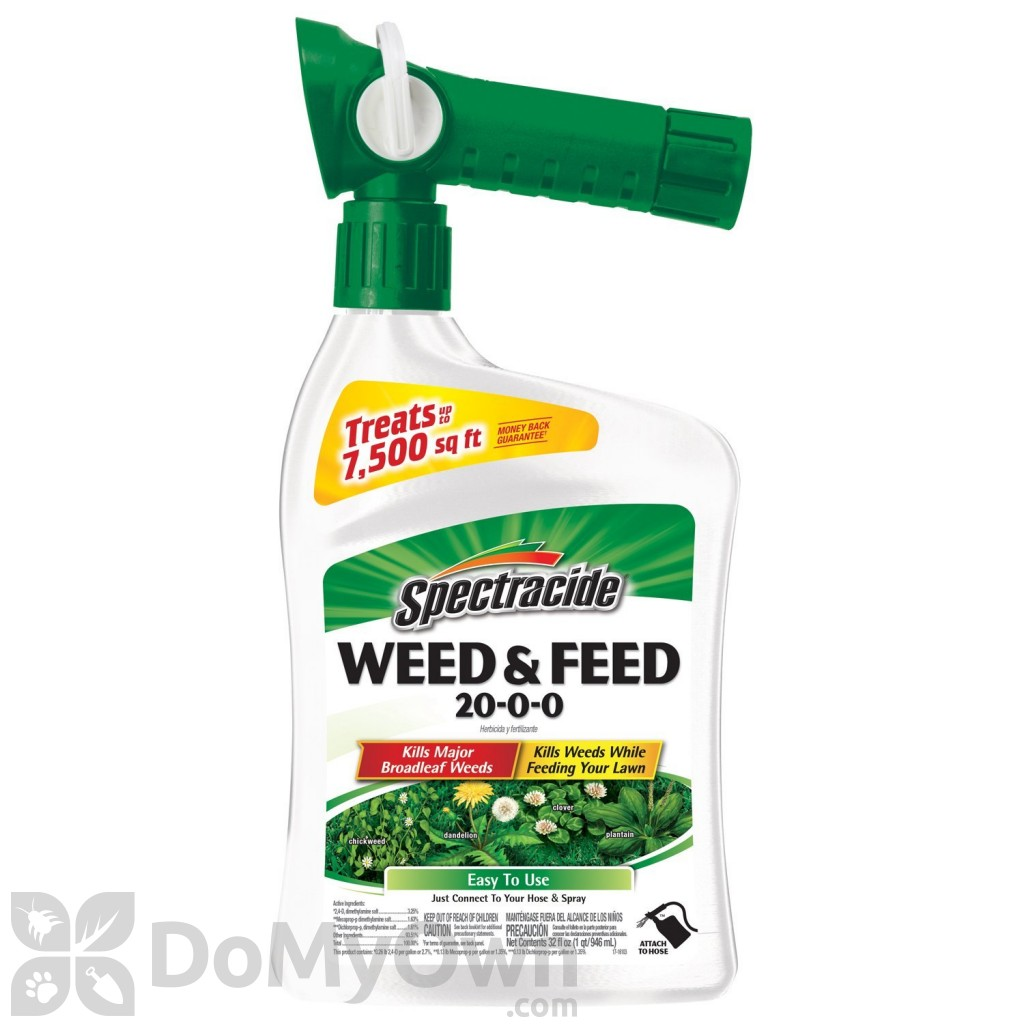 Weed and feed lawn application