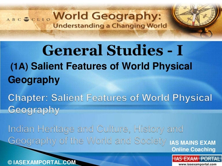Salient features of world physical geography pdf