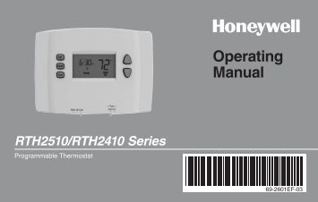 Th4210d1005 honeywell electronic programmable thermostat manual