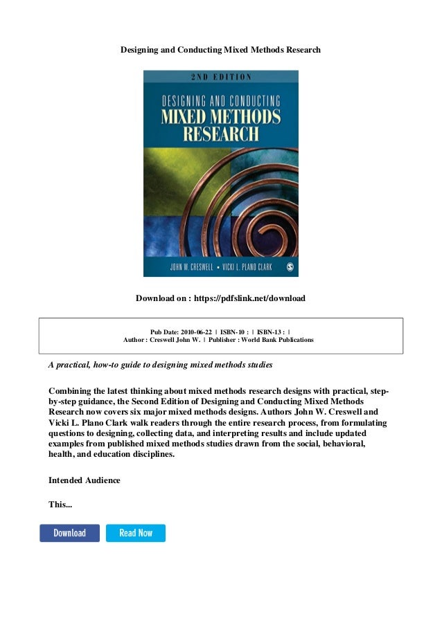 Designing and conducting mixed methods research pdf